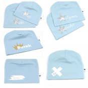Baby blue name hats