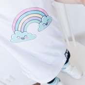 Tshirt - Rainbow (white)