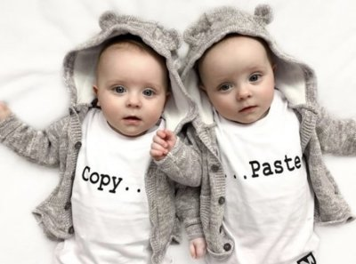 Tshirt - Copy / Paste (vit)