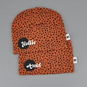 Dots beanie with name RUST - Dot (Script)