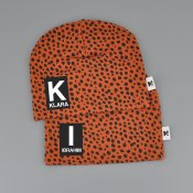 Dots beanie with name RUST - Letter and name
