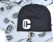Black beanie with name - Letter with name inside