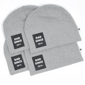 Dad since - Rectangle (Grey beanie)