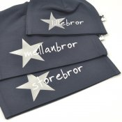 Navy beanie with name - Star