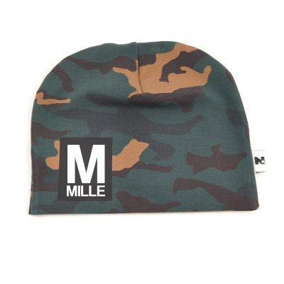 Camouflage beanie with name - Letter and name