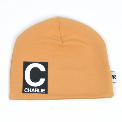 Gold  beanie with name - Letter and name