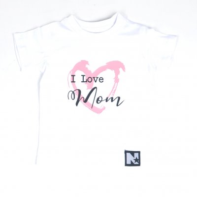 Tshirt - I love mom (vit)