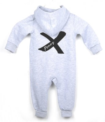 "Jumpsuit - BACK ""Cross"" (grey)"