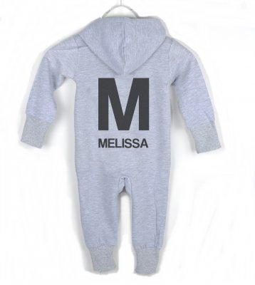 Jumpsuit - BACK (grey) Letter and name