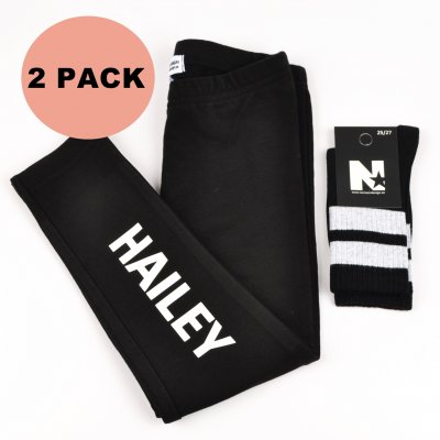 DUO DEALS - Leggings with name & socks