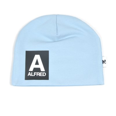 Light blue beanie with name - Letter and name - Baby blue name hats ... 9fa301691ae