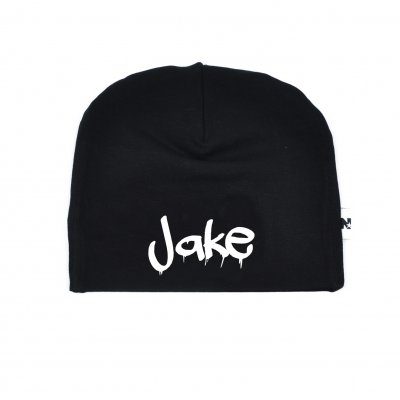 Name drip - Black beanie