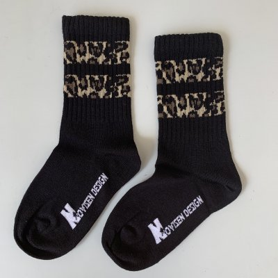 Socks - Black with Leo