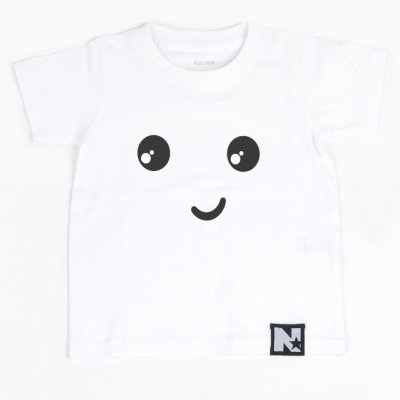 Tshirt - Smiley (vit)