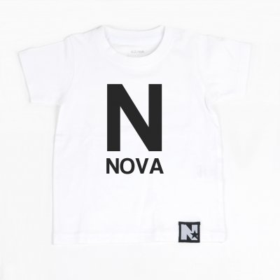 T-shirt - Letter and Name (white)