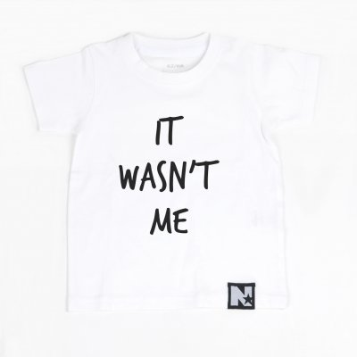 Tshirt - It wasn't me (vit)